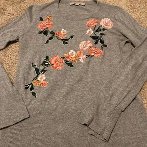 Loft Embroidered Sweater